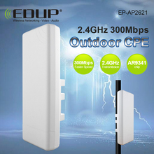 EDUP CPE Wireless WIFI Router WIFI Repeater Long Range 1KM 300Mbps Outdoor AP Router CPE AP Bridge Client Router Support  WRT