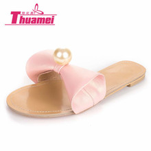 Thuamei women flip flops Beach sandals fashion Bling slippers summer women flats shoes woman flat best pink #Y0615441F(China)
