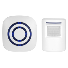 BearHoHo Door Bell Alarm Wireless PIR Motion Sensor 38 Tones 1 Plug in Receiver US EU and 1 Sensor up to 70 Meters