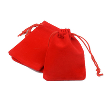 Wholesale 9x12cm Drawstring Red Velvet Bags Pouches Jewelry Bags Christmas Valentines Gifts Bags 50pcs/lot  H0499