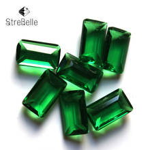 Erinite indicolite stone no hole 8x14mm fancy cube faceted glass beads necklace accessories for fashion DIY