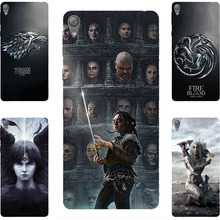 New Fashion GOT Game Of Throne House Stark Hard PC Painting Case for Sony eXperia Xperia E5 F3313 F3311 Cell Phone Printed Case