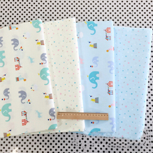 Syunss Elephant Dot Printed Cotton Fabric for Baby Patchwork Quilt Home Decoration Pillow Cloth Cover Handcraft Sewing Fabric(China)