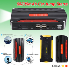Liplasting 68800mAh Car Jump Starter 4 USB Power Bank SOS Light 600A Car Battery Charge