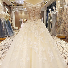 LS57821 special wedding dresses lace ball gown corset back wedding gowns 2017 robe de mariage real photos(China)