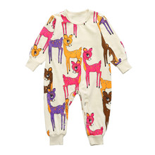 2017 Winter Fall Baby Boy Girl Long Sleeve Casual Romper Jumpsuit Pajamas Baby One Piece Suit Hot selling CR170
