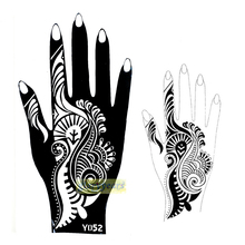1pc New Indian Flower Lace Style Henna Mehndi Temporary Nontoxic Tattoo Stencils Cones Natural Plants Pigment For Body Art Y052