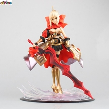 Fate Stay Night Saber Anime Figure Armor Dresse Red Ver PVC Action Figure Collection Model Kids Toy Doll 24CM(China)