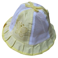 baby Infant Kids Summer Hat Cap Butterfly Bow Visor Cap (Yellow)