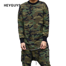 HEYGUYS Original Design Spring Autumn Brand Men Hoodies Tracksuits Hooded Men Male Warm Thick Sweatshirt Camouflage Hoodies(China)