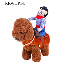 Cowboy Dog Costume Novelty Clothes for Dogs Riding-horse Halloween Outfit Funny Pets Costume Party Cosplay Pet Jacket(China)