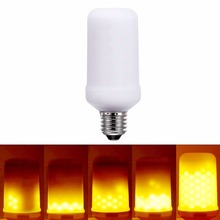 New E26 E27 3528SMD 6W 3modes LED Flame Effect Fire Light Bulbs Flickering Emulation Decorative Lamps(China)