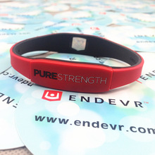3pcs/lot good quality silicone balance bracelet power bangle purestrength double colors energy wristband free shipping