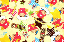 Tony Tony Choppe  ONE PIECE cute baby Polyester silk fabric Sewing Fabric DIY Handmade Material Patchwork 105*100cm