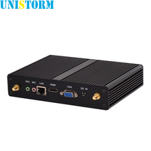 Fanless Intel Dual Core Mini PC Pentium 2117U 1.8GHz Windows7/8/10 Mini Computer with Intel HD Graphics 1080P HDMI TV Box