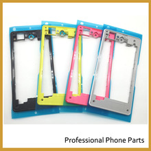4 Color New For Sony Xperia Z1 Compact Z1 Mini D5503 Back Rear Housing Frame Bezel Plate Replacement Spare Parts High Quality