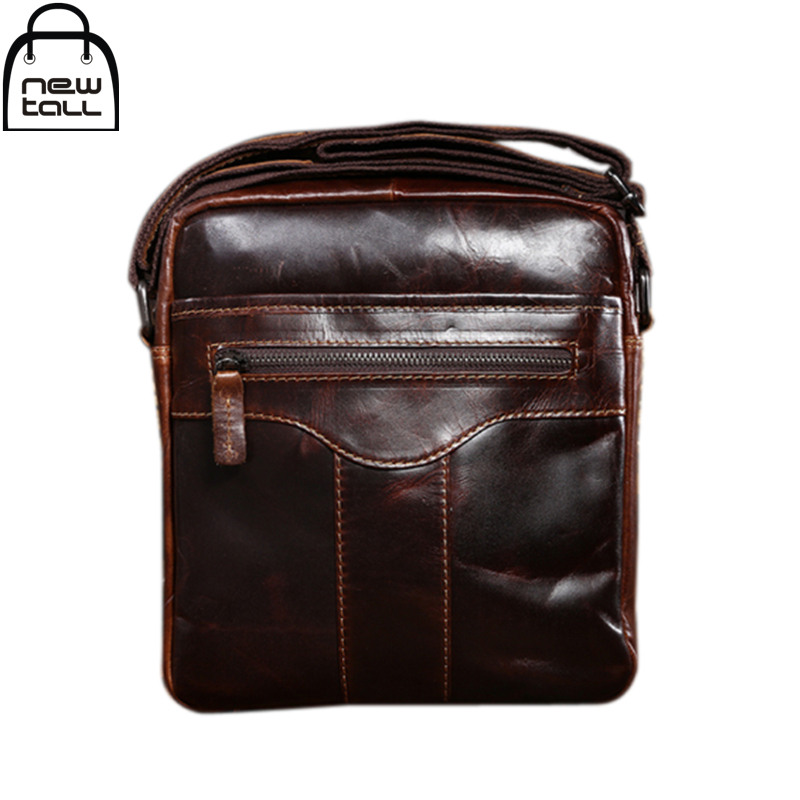 [NEWTALL] 2017 New Wax Oil Head Layer Cowhide  Shoulder Business Casual Restoring Ancient Ways Message Bag Free Shipping B1122<br><br>Aliexpress