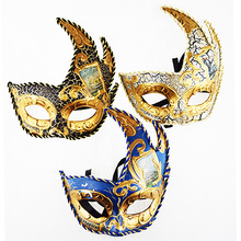 Venetian Triangle Maple Leaf Flame Crack Mask Masking Face Mask Half Face British royal retro mask