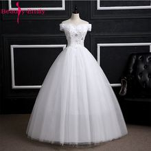 Buy Beauty Emily Boat Neck White Lace Beading Wedding Dresses 2017 Ball Gown Shoulder Wedding Party Dresses Real Photo for $43.43 in AliExpress store