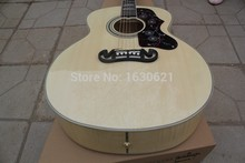 2017 New + Factory + Chibson J200 flame maple acoustic guitar J200 NA electric acoustic guitar solid spruce top Jumbo guitar(China)