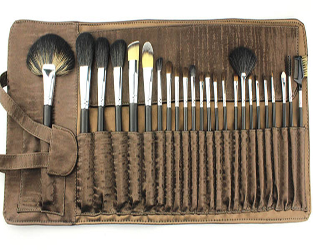 Professional 24 Pcs Natural Hair Cosmetics Makeup Brushes Set With Makeup Brush Bag pincel maquiagem<br>
