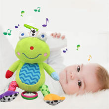 Baby Music Plush Toy 0-2 years old kids girls Boys music bed hanging bell Rattles toys Infant Newborn Cute Toy TO188(China)