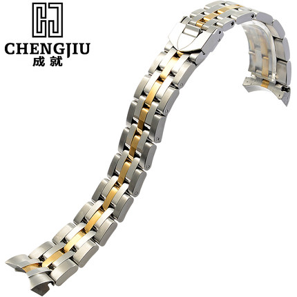 Mens Curved Interface Steel Watch Strap For Tudor Silver Gold Watches Band Deployment Buckle Bracelet Belt Montre Maculino 21mm<br><br>Aliexpress