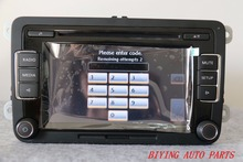 Free Shipping RCD510 VW Original Car MP3 SD USB Radio Stereo RCD510 Radio With Code For VW Golf 5 6 Jetta CC Tiguan Passat Polo