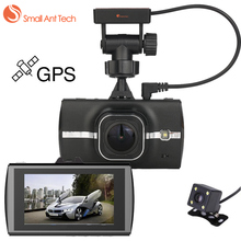 SmallAntTech Full HD Car DVR GPS Tracker Dash Camera Cam 3inch 1080P Video Registratory Camcorder Night Vision Rearview Camera