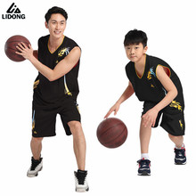 2017 New Kids Boys Girls basketball jerseys clothes sets breathable jersey shirts short basketball clothing Training Suits DIY
