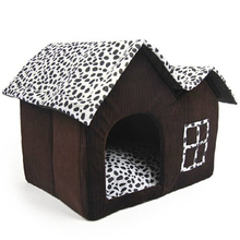 TFBC-Luxury High-End Double Pet House Brown Dog Room 55 x 40 x 42 cm(China)
