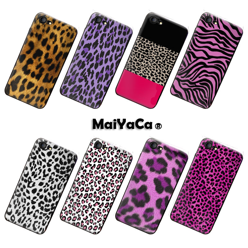 MaiYaCa Colorful Cute Phone case Accessories iphone 8 case colorful red Leopard Snakeskin silicone cover iPhone 8 Case