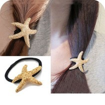 hot new style fashion gold starfish jewelry accessories headband hair bow for women girl Free Shipping(China)