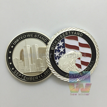 September 11th America challenge Sliver coin World 9 11th 15Th Anniversary Coins