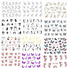 1Sheet Fashion Style Nail Art Water Transfer Sticker Polish Watermark Decals Manicure Wraps Decor Beauty Nail Tools BESTZ001-031(China)