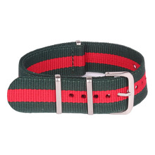Buy 2 Get 20% OFF) 16mm watchbands Green Red Army Military nato fabric Woven Nylon Watch Strap Band Buckle belt 16 mm