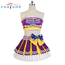 LoveLive! Love Live Nozomi Tojo Cheerleaders Uniform Strapless Skirt Anime Halloween Cosplay Costumes For Women Custom Made
