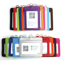 high Quality Pu Card  Id Holders Case Pu Business Badge Card Holder Company&office Supplies