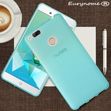 New Candy color soft silicone TPU gel back cover case for ZTE Nubia Z17 Mini / M2 / M2 lite M2 mini with screen film and pen(China)