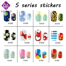New Nail Art Stickers Decals,2sheets Full Cover Flower Leopard Design Adhesive Polish Foil Nail Wraps Patch,DIY Nail Decorations