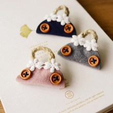 3pcs/lot Unique Bag Shape Brooches Wool Felt Fabric Costume Brooch Jewelry Big Brooches for Women Girls Valentine Jewelry nz20