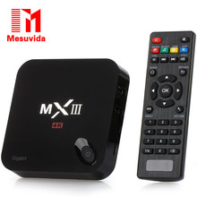 Mesuvida MXIII-G TV Box 1000M Ethernet 4K2K H.265 Google TV Player Android 5.1 Amlogic S812 Quad Core WiFi HDMI AV TF Card Input