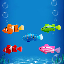 6 Color Funny Water Electronic Robo fish Activated Battery Power Robo Bath Toy fish Robotic Pet for Fishing Tank Decor Fish Toy