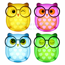 Cute Cartoon Owl Led Mini Night Light Auto Control LED Sensor Lights Child Kids Baby Soft Lamp Bedroom Lighting Wall Decoration