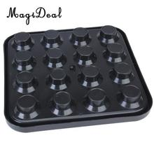 MagiDeal Professional Plastic Pool Billiard Ball Tray Holds 16 Balls - Black for Funny Indoor Table Game Sport Acee Friend Gifts(China)