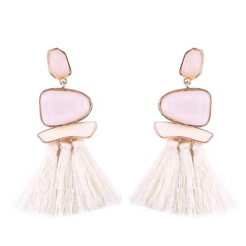 Fringed Statement Tassel Multicolored Hot Fashion Drop Dangle Earrings*