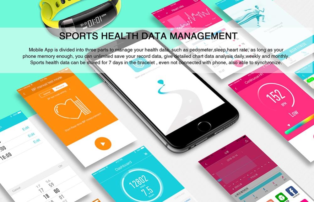 HUINIU Sport Smart Band Waterproof Bluetooth Bracelet Activity Tracker Heart Rate Monitor Smartband Message Reminder Wristbands 11