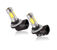 2x Bulbs H27W/2 881 886 894 898 899 LED SMD Fog Light Daytime Running Projector Head Light Free Shipping(China)