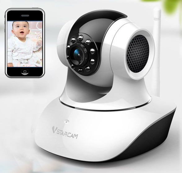 Wireless Control Video Baby Monitor Wifi Talk Back Intercom Camera With Ir Night Vision For Mobile