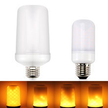 Buy E26 Led Flame Lamps E27 E14 LED Flame Effect Light Bulb 110V 220V Flickering Emulation Fire Lights 5W Decorative Lamp for $6.39 in AliExpress store